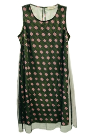 ANTONELLO SERIO Green Graphic Dress - Product Mini Image