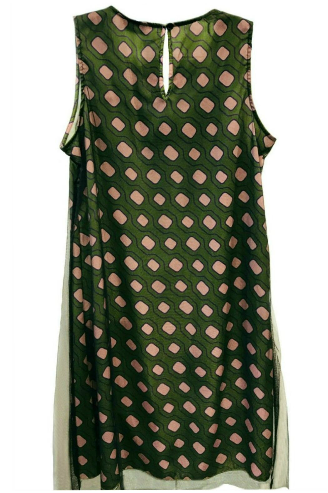 ANTONELLO SERIO Green Graphic Dress - Front Full Image