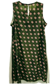 ANTONELLO SERIO Green Graphic Dress - Front full body