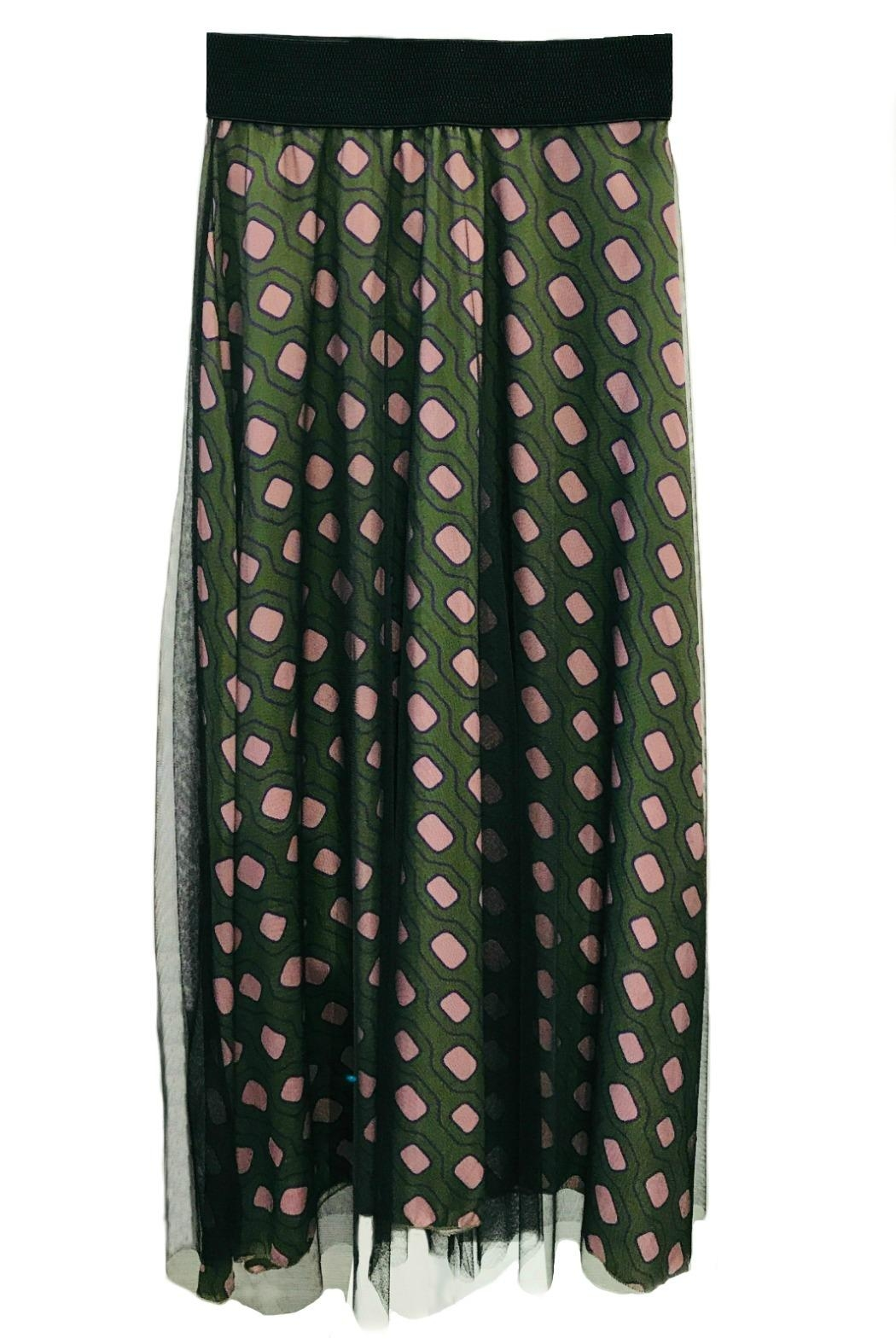 ANTONELLO SERIO Green Graphic Skirt - Main Image