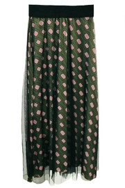 ANTONELLO SERIO Green Graphic Skirt - Front cropped