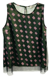 ANTONELLO SERIO Green Graphic Top - Product Mini Image