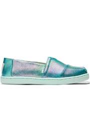 TOMS Green Iridescent Snake Youth Classics - Front cropped