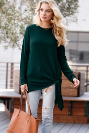 My Story Green Knot Sweater - Product Mini Image