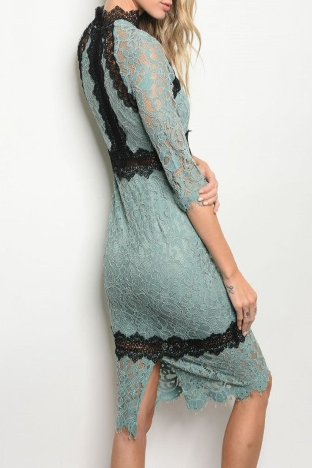 Latiste Green Lace Dress - Front Full Image