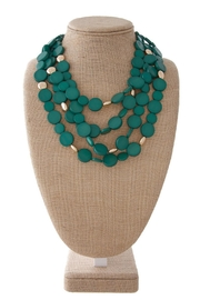 Wild Lilies Jewelry  Green Layered Necklace - Product Mini Image