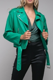 Do & Be Green Leather Jacket - Product Mini Image