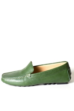 Pascucci Green Leather Loafer - Product List Image