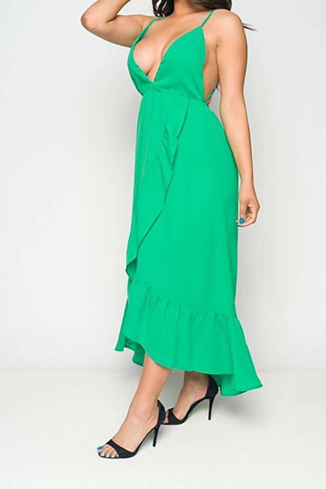 Unknown Factory Green Maxi Dress - Front Full Image