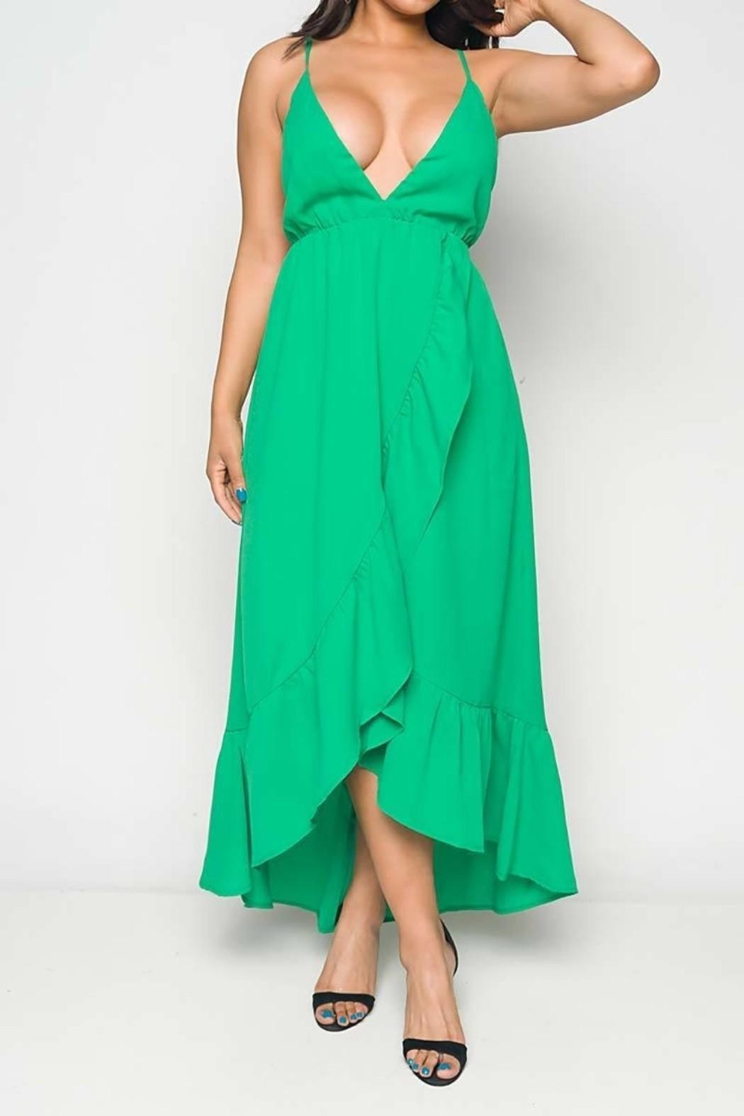 Unknown Factory Green Maxi Dress - Main Image