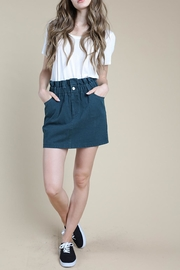 Wild Honey Green Mini Skirt - Product Mini Image