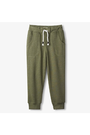Hatley Green Mlange Slim Fit Joggers - Front cropped