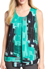 Nic+Zoe Green multi-colored tank top - Product Mini Image
