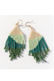 Ink + Alloy Green Ombre Seed Bead Earring - Product Mini Image