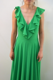 Leshop Green Organza Dress - Front cropped