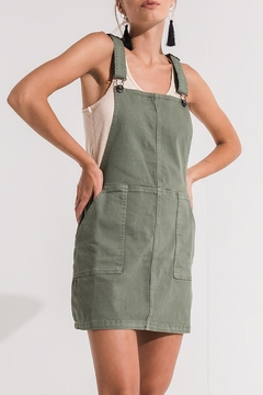 Others Follow  Green Overall Dress - Alternate List Image