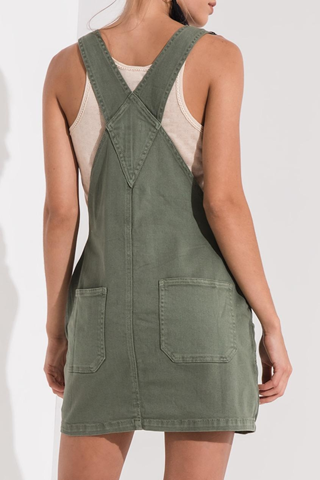 Others Follow  Green Overall Dress - Front Full Image