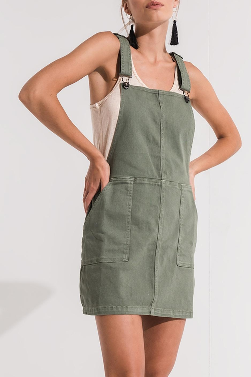 Others Follow  Green Overall Dress - Side Cropped Image