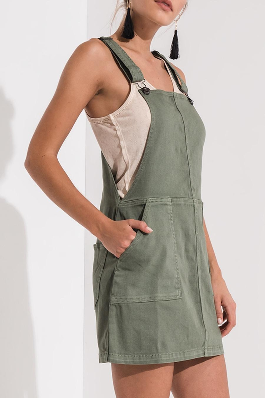 Others Follow  Green Overall Dress - Main Image