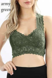 Izzie's Boutique Green Padded Bralette - Product Mini Image