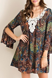 Entro Green-Paisley Print Dress - Product Mini Image