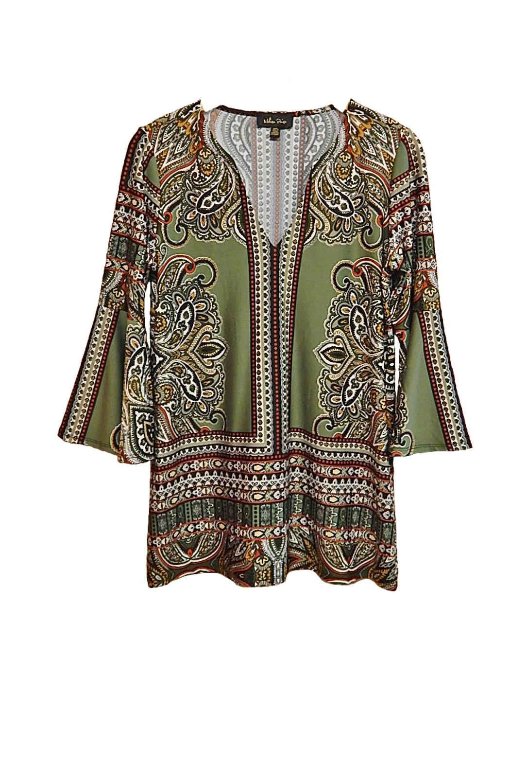 Melissa Paige Green Paisley Top - Main Image