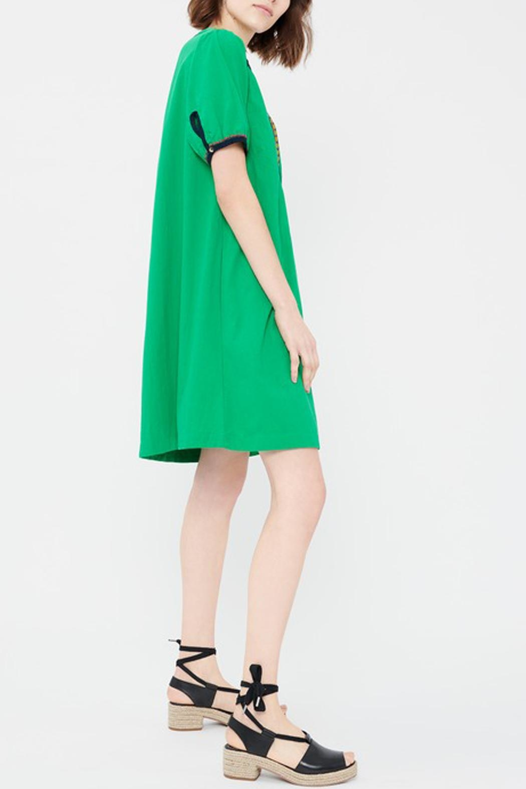 Acoté Green Prairie Dress - Front Full Image