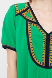 Acoté Green Prairie Dress - Back cropped