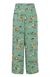 ICHI Green Print Pant - Front cropped