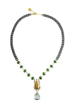 Shoptiques Product: Green-Quartz Beetle Necklace