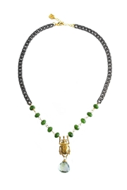 Malia Jewelry Green-Quartz Beetle Necklace - Product Mini Image
