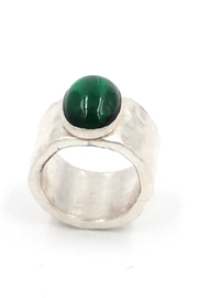 LJ Jewelry Designs Green Quartz Ring - Front full body