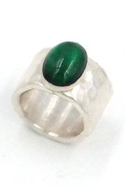 LJ Jewelry Designs Green Quartz Ring - Front cropped