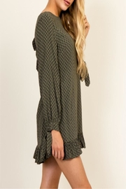 Olivaceous Green Queen Dress - Front full body