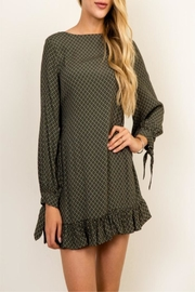Olivaceous Green Queen Dress - Front cropped