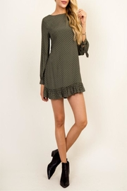 Olivaceous Green Queen Dress - Back cropped
