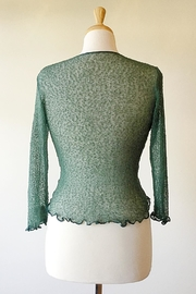 Scarborough Fair Green Ruffle Cardigan - Side cropped