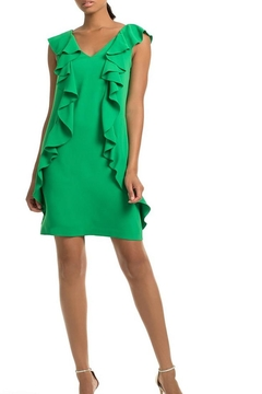 Shoptiques Product: Green Ruffle Dress