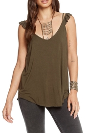 Chaser Green Ruffle Tank - Product Mini Image