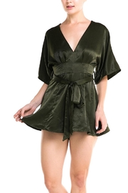 Do & Be Green Satin Romper - Product Mini Image
