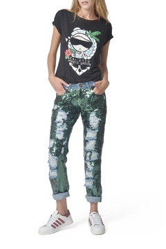 Mua Mua Dolls Green Sequined Jeans - Product List Image