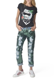 Mua Mua Dolls Green Sequined Jeans - Product Mini Image