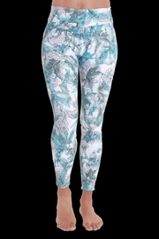 Liquido Active Green Stamped Leggings - Product Mini Image