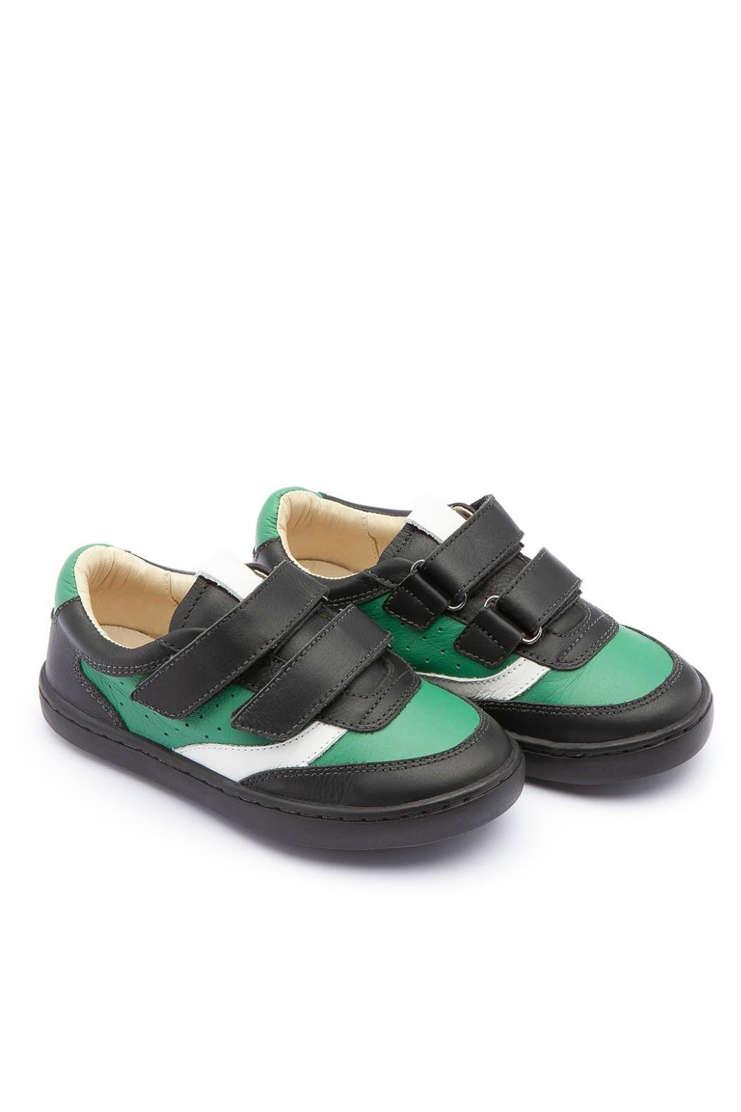 Tip Toey Joey Green Street Sneakers - Front Cropped Image