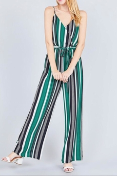 Active Basic Green Stripe Jumpsuit - Alternate List Image