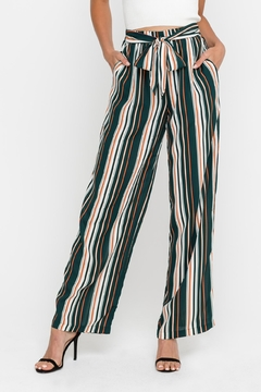 Shoptiques Product: Green Striped Pants