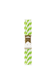Party Partners Green Striped Paper Straws - Product Mini Image