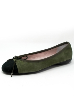 Paul Mayer Green Suede Flats - Product List Image