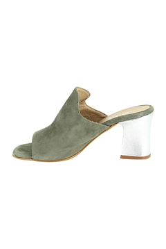 Shoptiques Product: Green-Suede Heeled Mule