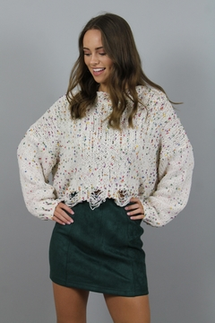 Honey Punch Green Suede Skirt - Product List Image